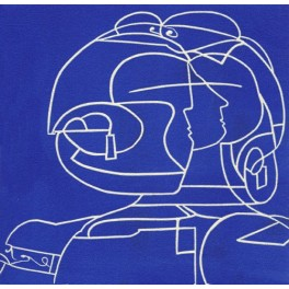 Antígona (en azul)