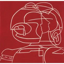 Antígona (en rojo)