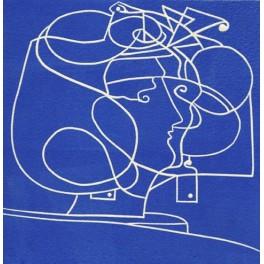 Isadora (en azul)