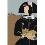 Menina de Madrid con gato