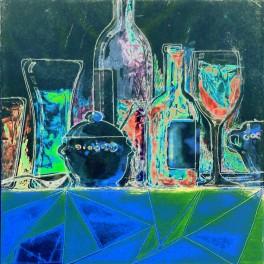 Anaquel I. Homenaje a B. U.  (D azul)