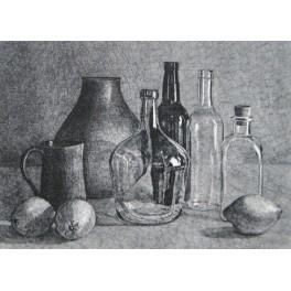 Limones y botellas