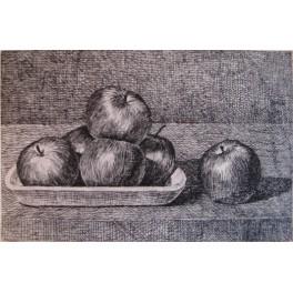 Pequeña bandeja con manzanas